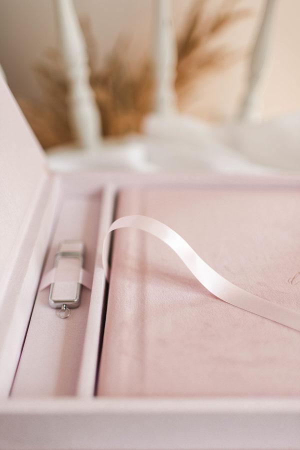 Pamiętnik kreatywny dla dziecka z pendrivem i pudełkiem aksamitny welurowy